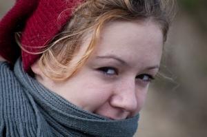 Josefina lächelt freundlich in die Kamera. (Ich lächle eigentlich freundlich den an, der fotografiert. Ich finde den nämlich toll. Die Kamera aber auch.)