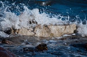 Hier werden Wellen gebrochen.