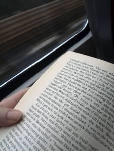 Lesend im Zug. In cold blood.