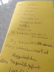 8. Einkaufsliste